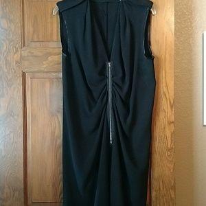 Joseph Gorgeous Black Zip Front Dress 42